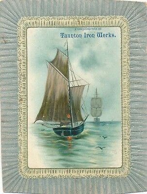 1890-1899 Taunton Iron Works, Ware, MA Victorian Trade Card
