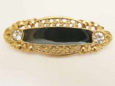 Edwardian Style Black Bar Brooch Pin