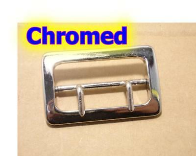"NEW Replacement CHROMED Buckle for 2.25"" Sam Browne Police Duty Belt"