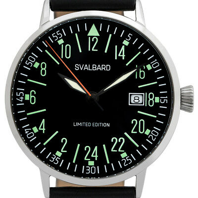 Svalbard military 24 hour watch with Swiss movement. Limited Edition, 500 pcs.