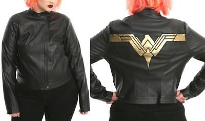 a0f4a8253a9 3X New Wonder Woman Justice League Faux Leather Moto Punk Jacket Plus Torrid  Bow