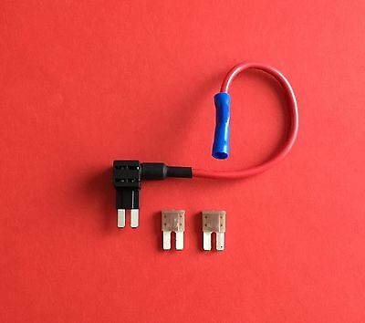 1 x Add a Circuit Fuse Tap Piggy Back Micro 2 Blade Fuse Holder & 2 x 5amp Fuses