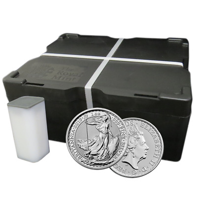 Lot of 500 - 2019 U.K. 2 Pound Silver Britannia .999 1 oz BU Full Monster Box