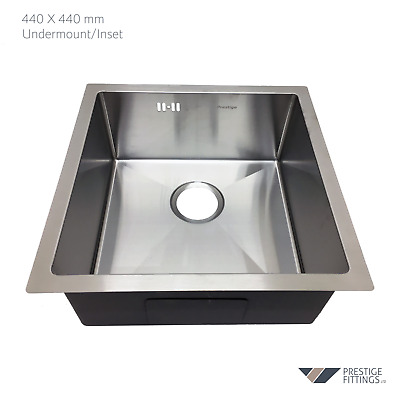 Undermount single bowl stainless steel kitchen sink high quality 1.2mm thickness