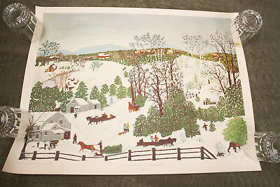 Out for Christmas Trees Grandma Moses Vintage Poster Print (HSE-24) Arthur Jaffe