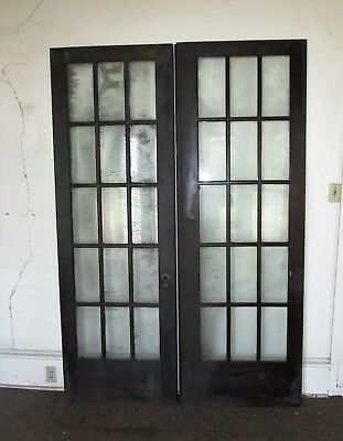 15 Lite Estate Find French Wood Door Glass Architectural Vintage 30 x 89 1/2 Ea.