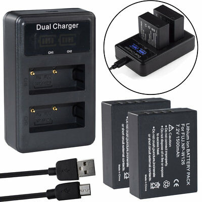 NP-W126 Battery / LCD Charger For Fujifilm X-T1 X-T10 X-Pro1 HS50 EXR NP-W126S