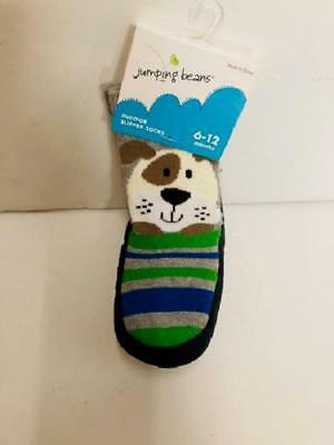 Jumping Beans Indoor Slipper Socks, 6-12 Months, Non-Skid Soles, Puppy Pattern