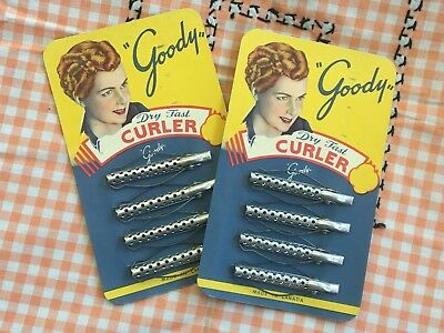 vintage NOS Carded GOODY Dry Fast Curler HAIR CURLERS advertising package box