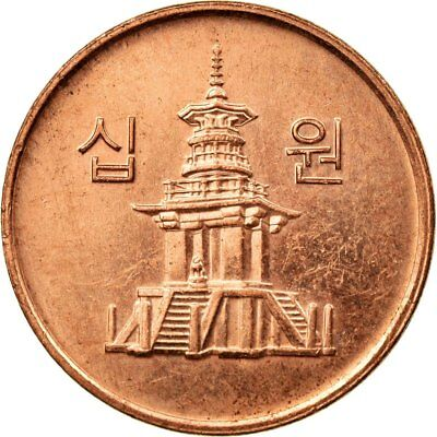 [#539544] Coin, KOREA-SOUTH, 10 Won, 2009, KOMSCO, AU(55-58), Copper Clad