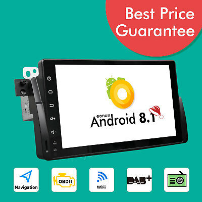 "Eonon 9"" Car GPS Sat Nav Android 8.1 Navigation for BMW E46 M3 Radio Wifi OBD2 E"