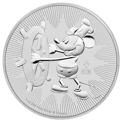 2017 1 oz Niue Mickey Mouse Steamboat Willie Silver Coin (BU)