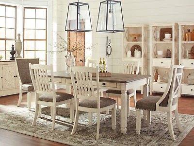 Traditional Dining Room Kitchen 7 pieces Set NEW Rectangular Table Chairs IC1G