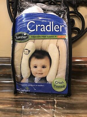 Cradler Adjustable Head Support Protected Newborn Toddler Crash Tested Monkey