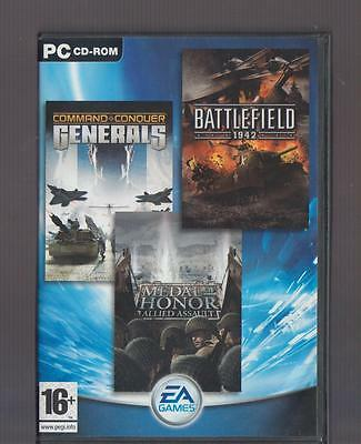 Command & Conquer Generals, Medal Of Honor Allied Assault, Battlefield 1942!!