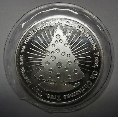 2015 Christmas One 1 Ounce Round .999 Pure Silver CHRISTMAS TREE