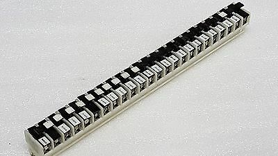 Terminal Block Strip with (24) FNA Fuses, (24) Fuse Holder Term. Assorted Fuses
