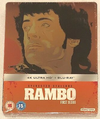 Rambo First Blood 4K Ultra HD Steelbook - UK Exclusive Limited Edition Blu-Ray