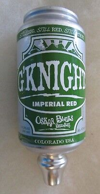 Oskar Blues Brewery G'knight Imperial Red Craft Beer Tap Handle
