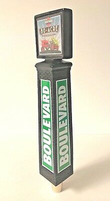 Boulevard Brewing Co 80 Acre Beer Tap Handle Smokehouse Tower - New in Box - 11""