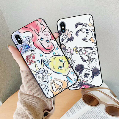 Cute Winnie Mickey Disney Phone Case Cover For iPhone X 8 7 6 Plus XS Max XR