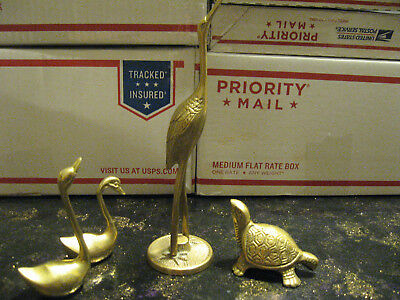 Four Piece Brass Collection Figurines