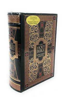 The Holy Bible KJV Engravings by Gustave Dore Red Letter Version Golden Edges HC