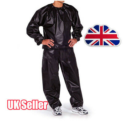 Heavy Duty Fitness Weight Loss Sweat Sauna Suit Exercise Gym Anti-Rip RW