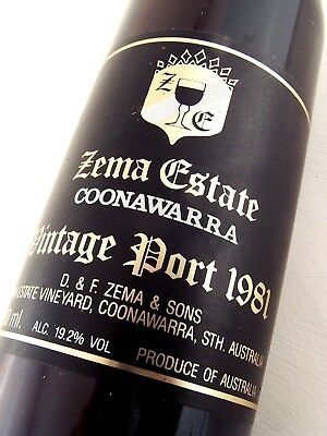 1981 ZEMA ESTATE Vintage Port ISLE OF WINE