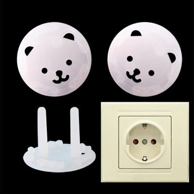 10pcs EU Power Socket Protector Baby Plugs Protector Cover Funny  Vogue Usable