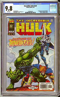 INCREDIBLE HULK #449 CGC Graded 9.8 NM.M+ 1st Appearance of THUNDERBOLTS
