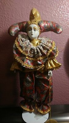"""Vintage Hand Made & Hand Painted 12"""" Fine Collectible Porcelain Doll"""