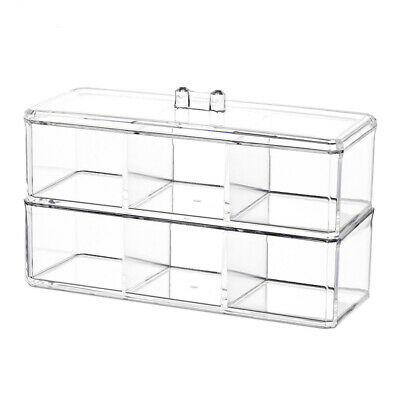 Clear Acrylic Desk Cosmetic Makeup Holder Two Tier Organiser - By TRIXES