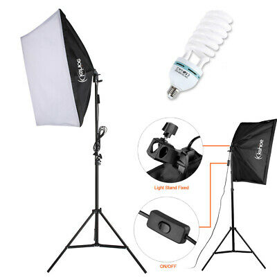 """135W Continuous Lighting 20*28"""" Large Softbox Photography Studio Light Stand Kit"""
