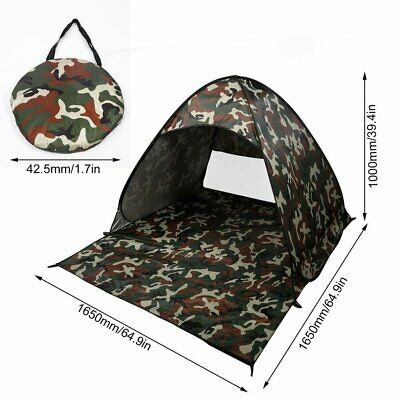 Outdoor 2 Person Pop Up Tent Folding Camping Hiking Camo Camouflage Waterproof