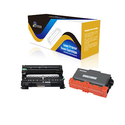 NYT Compatible High Yield Toner /& Drum Cartridge Replacement for DR720 TN750 for Brother MFC-8510,MFC-8710,MFC-8910,MFC-8950 Black,2-Pack