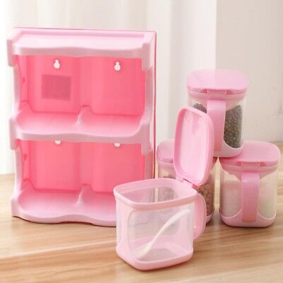 Seasoning Box Storage Containers Condiment Plastic Spice Jars Dispenser For HCXM