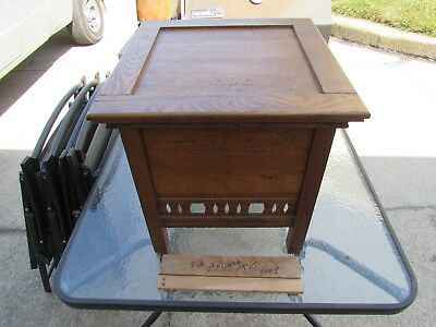 Vintage Antique Primitive Oak Chamber Pot Portable Toilet Bedside Potty Commode