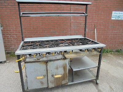 8 Burner Commercial Stainless Steel Cooker ~ Grill ~ Oven