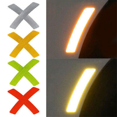 Safety Reflective Warning Strip Tape Car Bumper Reflector Stickers Decals 2Pcs