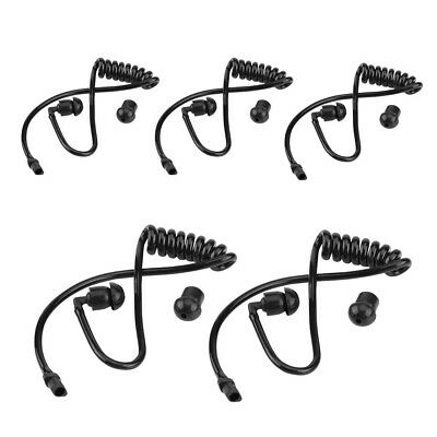5Pcs Replacement Coil Acoustic Air Tube Earplug For Two-way Radio Earpiece