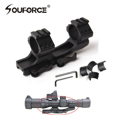 """Quick Release QD 1""""/30mm Ring 20mm Picatinny Rail Scope Mount&inserts For Rifle"""