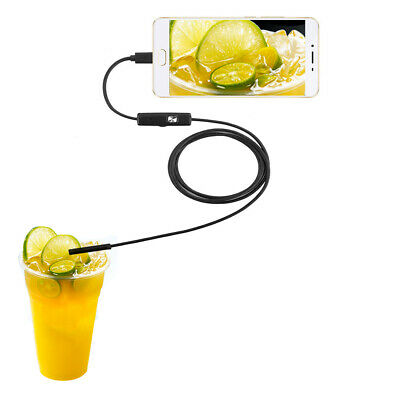 7mm Wasserdicht Endoscope Endoskop 5M 6LED Inspektionskamera für Android Handy