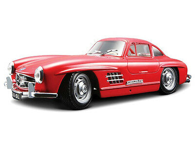 Bburago 1/24 W/B 1954 MERCEDES BENZ 300SL Red Diecast Car Model