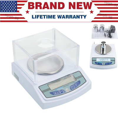 US Stock Analytical Balance 3000 x 0.01g 10mg Precision Scale for Lab Jewelry