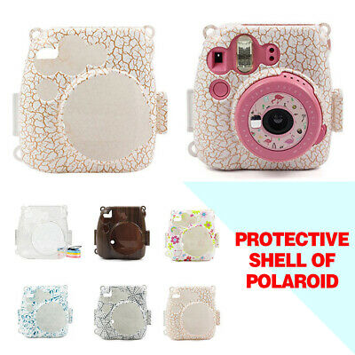Protective Glitter Clear Crystal Case Cover For Fujifilm Instax Mini 8/8+/9 Cam