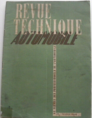 revue technique automobile RTA CITROEN T 45  n°22 de 02 / 1948