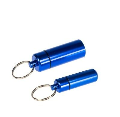 Storage Container Aluminum Waterproof with Key Ring - Various Sizes