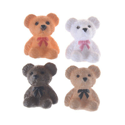 2PCS 1:12 1:6 Scale Sitting bear for Toy Doll Dollhouse Miniature Accessories M&