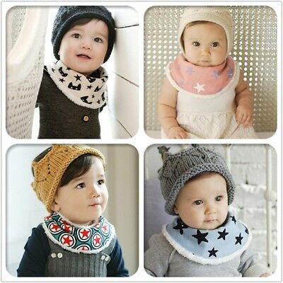 New Baby Kids Cute Cartoon Towel Saliva Lunch Bibs Soft Cotton Bandana Scarf